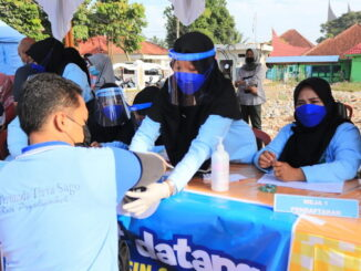 Gebyar vaksinasi covid 19 di Payakumbuh.