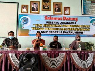 Lokakarya di SMPN 8 Kota Payakumbuh.