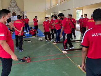Pelatihan identifikasi bakat olahraga di Klungkung, Bali.