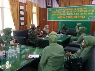 Rapat koordinasi TMMD Limapuluh Kota.