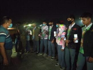 Siswa SMK Payakumbuh yang ditertibkan Satpol PP dan polisi.