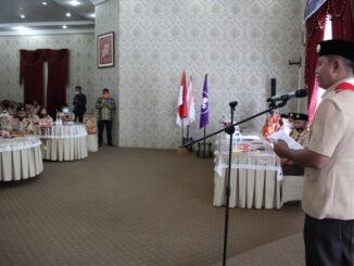 Wabup Jon F Pandu saat memberi sambutan.