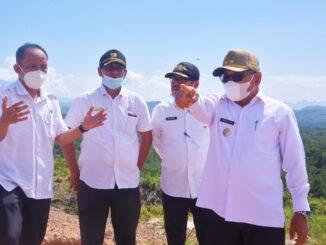 Wakil Walikota Sawahlunto meninjau peletakan batu pertama pembangunan Kampus PSDKU UNP.