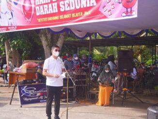 Walikota Sawahlunto dalam acara Peringatan Hari Donor Darah Sedunia di Sawahlunto.