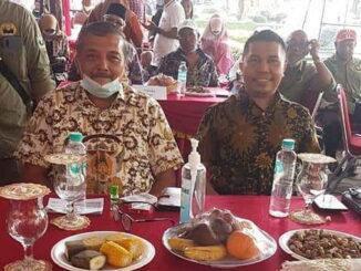 Zarfi Deson saat menghadiril halal bihalal IKWAL Jakarta.