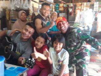 Hari terakhir penugasan sebagai satgas MMD berbaur dengan masarakat dan anak anak.
