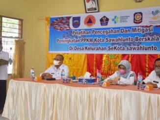 Wakil Walikota saat Pembukaan Pelatihan Pencegahan dan Mitigasi.