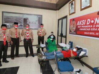 Kegiatan donor darah Kwarcab Pramuka Kota Payakumbuh.