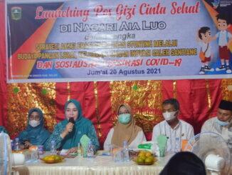 Launching Pos Gizi Cinta Sehat di Nagari Aia Luo.