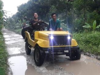 Mobil Jip Mini yang dirakit Irwan Saputra.