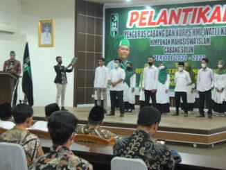 Pelantikan pengurus HMI Cabang Solok.