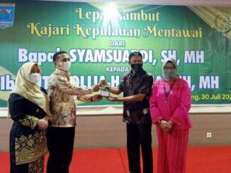 Pisah sambut Kajari Mentawai.