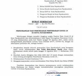 Surat himbauan Walikota Payakumbuh.