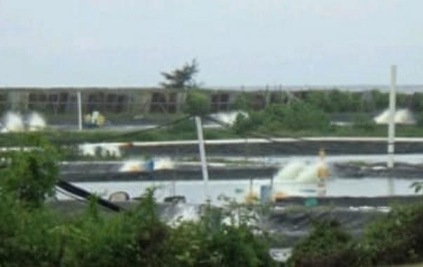 Tambak udang di Padang Pariaman.