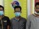 Tiga tersangka yang ditangkap Satrea Narkoba Polres Tanah Datar.