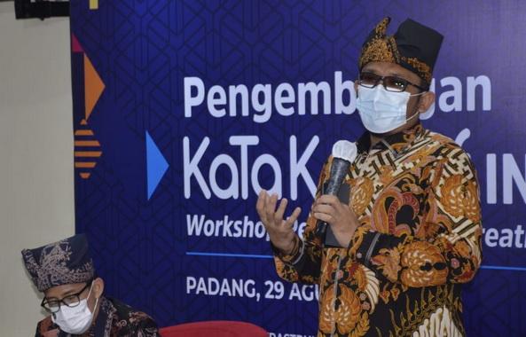 Wako Hendri Septa saat memberi sambutan.