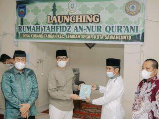 Walikota Sawahlunto, Deri Asta, SH meremikan Rumah Tahfidz.