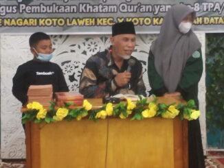 Gubernur Mahyeldi saat memberisambutan.