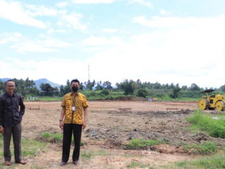 Inilah lapangan sepakbola yang berstandar Nasional yang tengah dibangun di Payakumbuh.