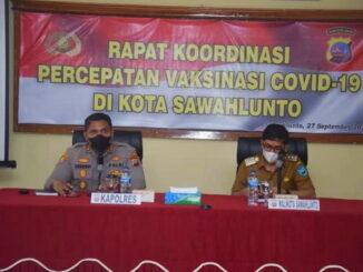 Kapolres Sawahlunto AKBP Ricardo Condrat Yusuf, SH, S.IK, MH dan Walikota Sawahlunto, Deri Asta, SH.