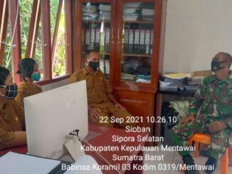 Kegiatan komsos di kantor Desa Matobe Kecamatan Sipora Selatan Kabupaten Kepulauan Mentawai.