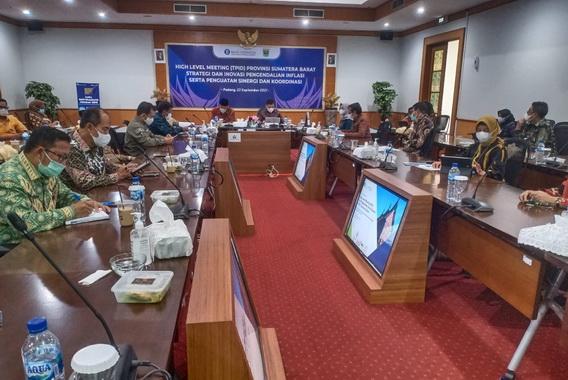 Rakor High Level Meeting (HLM) Tim Pengendalian Inflasi Daerah (TPID) Sumatera Barat.