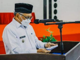 Wakil Walikota Sawahlunto memberikan sambutan dalam Menelusuri Jejak Budaya di Jalur Rempah Sawahlunto.