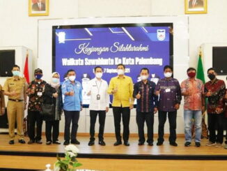 Walikota Sawahlunto saat berkunjung ke Palembang.