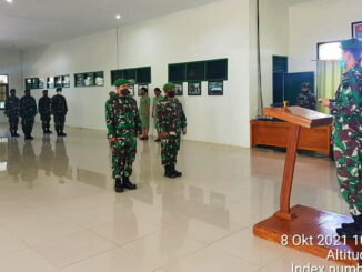 Acara korp raport pindah satuan anggota Kodim 0319-Mentawai.