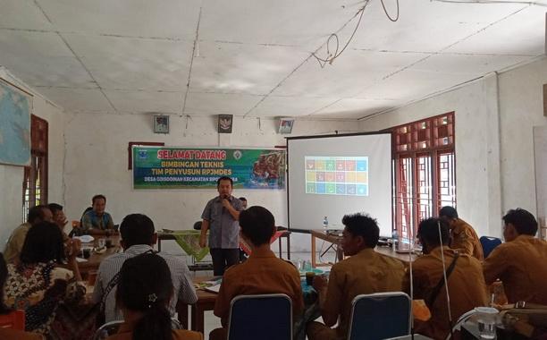 Bimtek RPJMDes di aula kantor Desa Goiso'oinan Sipora Utara Kabupaten Kepulauan Mentawai.