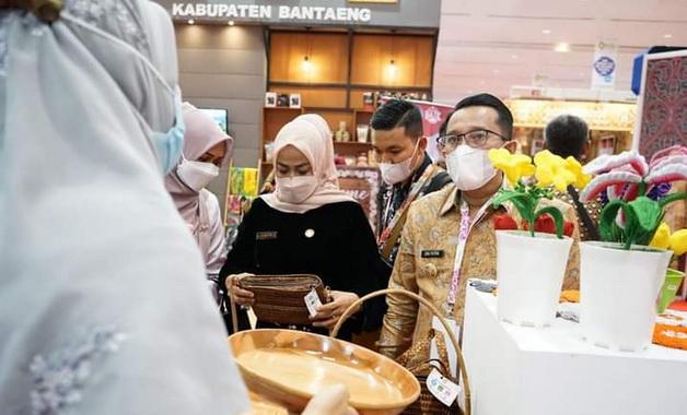 Eka Putra di sela-sela Apkasi Otonomi Expo di Jakarta Convention Centre.