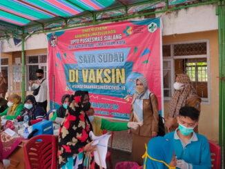 Gebyar petani sadar vaksinasi covid -19 di Nagari Durian Tinggi.