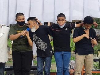 Grup Musik SLB Autisma YPPA Padang saat ikuti Psikologi Mencari Bakat UNAIR Tahun 2021