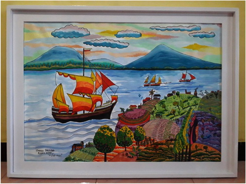 Lukisan Hannan Habibillah Azyanu Azhar Kekayaan Rempah Negeriku.