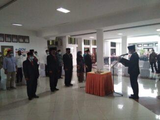 Pelantikan lima pejabat tinggi pratama di jajaran Pemko Solok.