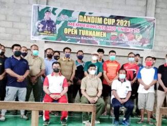 Pembukaan Turnamen Badminton Dandim Cup 2021.