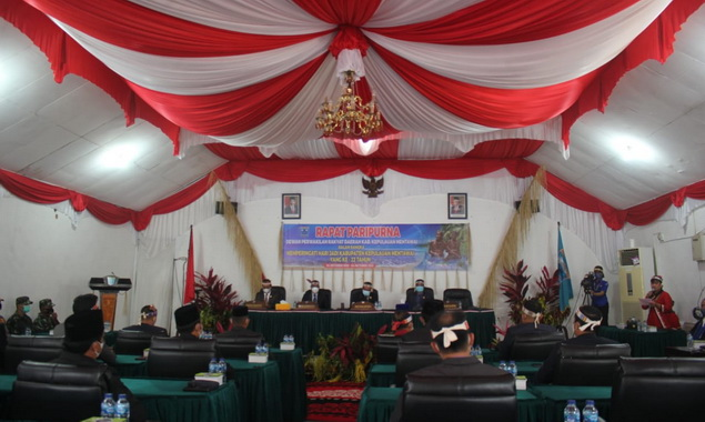 Sidang paripurna DPRD Kab. Kepulauan Mentawai.