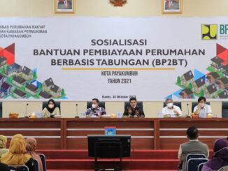 Sosialisasi bantuan penyediaan perumahan Berbasis Tabungan (BP2BT) di Ruang Ngalau Indah Balai Kota.