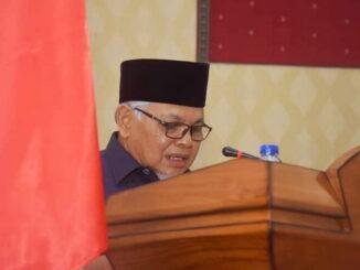 Wakil Walikota Sawahlunto menyampaikan Ranperda Tahun 2021.